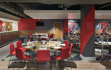 red restaurant at liverpool sevens hospitality suite